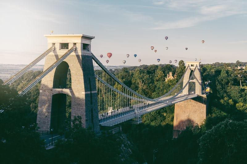 Bristol bidge with balloons